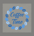 flat shading style icon coffee time logo vector image