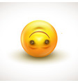 Cute upside down face emoticon emoji - vector image