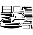 Set Of Different Saws vector image vector image