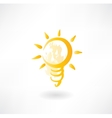 light bulb grunge icon vector image