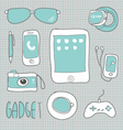Drawing gadgets technology vector image