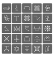 Mystical symbols and sacred signs icons vector image vector image