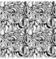 vector seamless monochrome abstract floral backgro vector image vector image