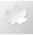 Abstract paper maple leaf vector image