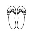 beach slippers it is black icon vector image