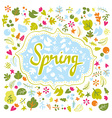 Card for spring vector image