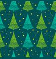 festive christmas seamless pattern decorative fir vector image