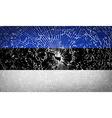 Flags Estonia with broken glass texture vector image