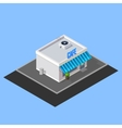isometric cafe building vector image