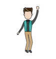 standing man business character professional vector image