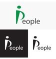 Stylized People logo Logo letter P vector image