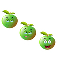 Cartoon Apple Fruit Set 4 vector image