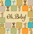 baby shower card with animals vector image