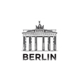 The sketch of The Brandenburg Gate in Berlin vector image