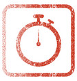 stopwatch framed textured icon vector image