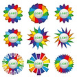 Set of rainbow icons with text lgbt vector image