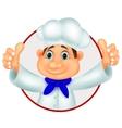 Chef cartoon giving thumb up vector image vector image