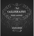 page decoration calligraphic design elements vector image vector image