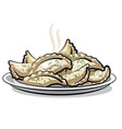dumplings vector image