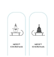 snowman and Christmas tree icons vector image