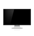 Black monitor with stand vector image