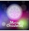 beautiful white Christmas snowflake vector image