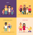 Family concept Family structure size members vector image