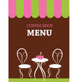Cafe menu vector image