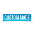 custom made blue 3d realistic square isolated vector image