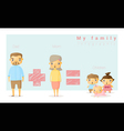 Family background and infographic 1 vector image