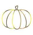 isolated pumpkin outline vector image