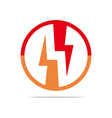 Logo Electricity Power Icon Design Symbol Abstract vector image