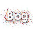Paper blog confetti sign vector image