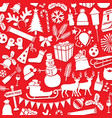 pattern with christmas and new year icons vector image