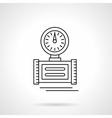 Pressure measuring flat thin line icon vector image
