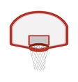 silhouette colorful with rounded basketball hoop vector image