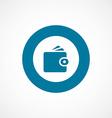 Wallet bold blue border circle icon vector image