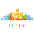 Italy Travel vector image