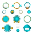 Set of sale badges labels and stickers in blue vector image vector image