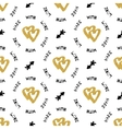 Creative artistic seamless pattern Hand-drawn gold vector image