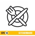 line icon kitchenware vector image