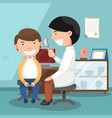 doctor performing physical examination vector image