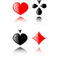 play card set eps 8 vector image vector image