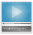 Video player for web minimalistic design vector image