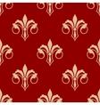 Seamless floral fleur de lis pattern vector image