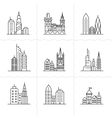 Cityscape icons vector image vector image