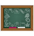 web blackboard frame vector image vector image
