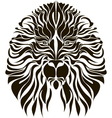 Lion head in black vector image