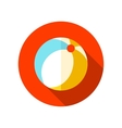 Beach Ball flat icon with long shadow vector image