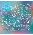 Happy Valentines day typographical holiday card on vector image